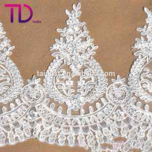 China manufacturer sexy stretch 3D indian white net embroidery lace