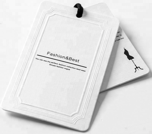 China supplier new design Luxury paper garment tag clothing hang tag with matt and glossy lamination