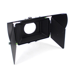 Cine matte box with french flag filter holder lens clamp adapter