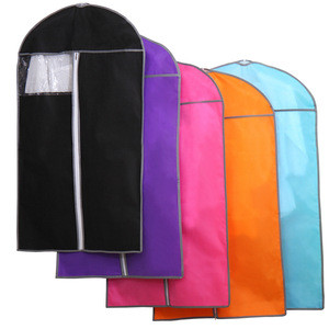 Color garment non woven clothes bag with a hanger opening