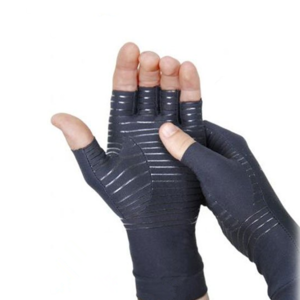 Copper Arthritis Recovery Compression Half Finger Gloves