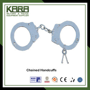 Double Locking Handcuffs Police Metal Handcuffs Stainless Steel Handcuffs