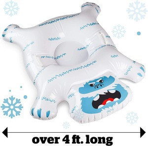 Factory customized Snow monster inflatable snow tube for skiing
