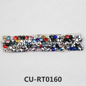 Factory direct sales custom color glass rhinestone  glass accessories for neck lace