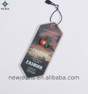 Factory Directly plastic hang tags retail with PVC cover and string