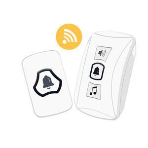 Family Wireless Digital Communication Doorbell Smart Push Button Doorbell 4 Level Volume 32 Ringtones 150M Waterproof Door Bell
