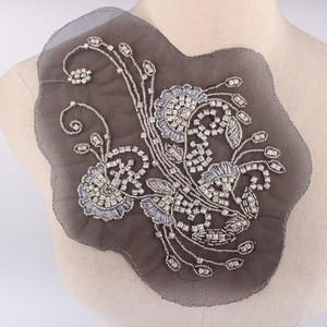 Fashion Dress Sew Rhinestone Collar Neck Trim For Wedding