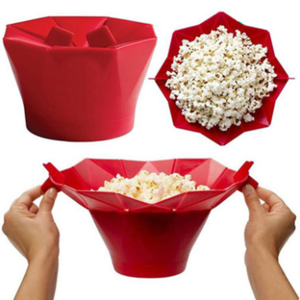 Food Grade Silicone Easy to clean Automatic Reusable silicone popcorn makers