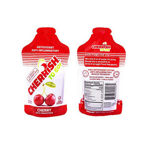 Gluten Free Non-GMO CHERRiSH Your Health To-Go 3oz Pouch Case of 24-Cherry Juice Concentrate -Anti-Inflammatory Muscle Recovery