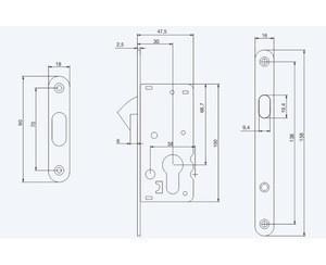 High quality safe special door lock body for door,mortise lock body parts
