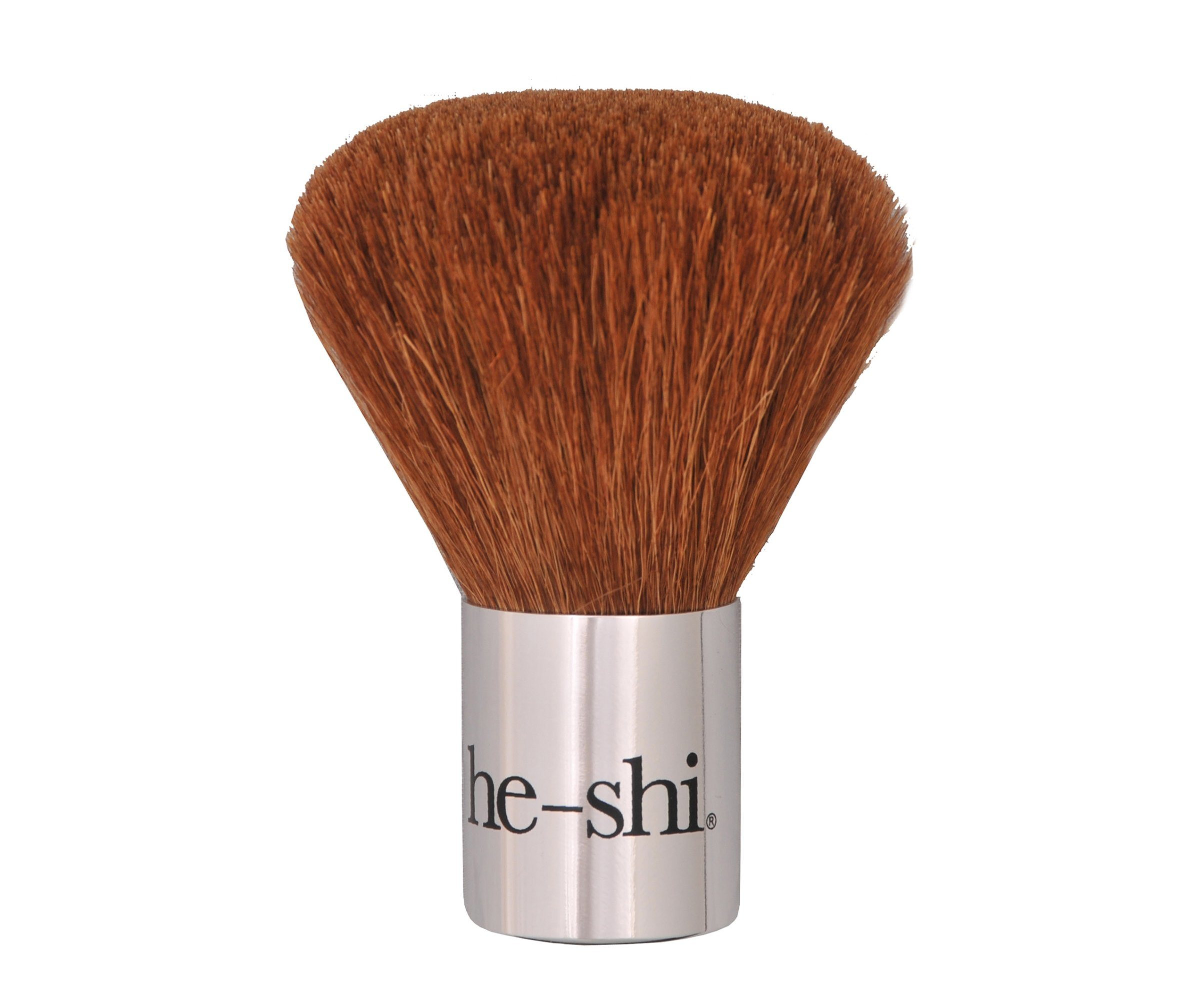 Individual Kabuki Makeup Brushes Aluminum Ferrule