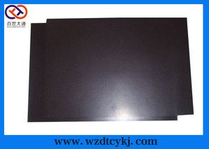 Isotropic rubberized magnetic sheet/refrigerator magnet material