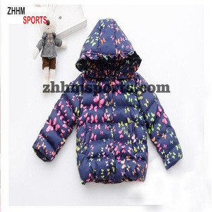 Korean children winter jackets girls cotton padded jacket with hoodies gloves butterfly printed baby down coats>>Baby Coats & ou