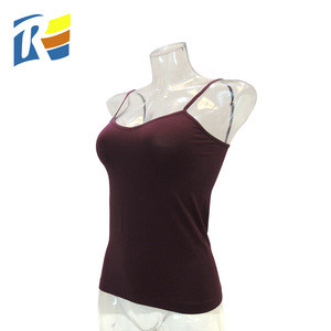 Latest Gym Tank Top Sexy Custom Female V Neck Elastic Vest Singlet Slimming Women Camisole