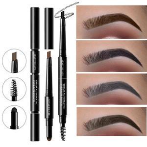 MayCreate Brand 3 in 1 Eye Brows Set for Women Waterproof Brow Pencil + Powder + Brush Pigment Black Brown Eyebrow Kit Makeup