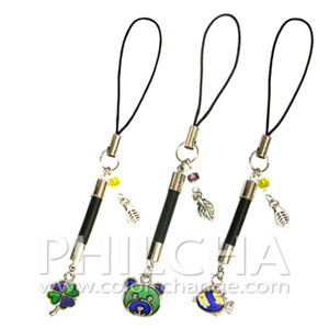 Mood Mobile Cell Phone Straps Accessory With Clover Bear Fish Pendent