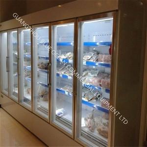 OEM BLUE OCEAN commercial cooling glass display cabinet refrigeration equipment for supermarket use