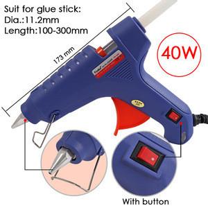 Popular Hot Melt 40W 60W with German American British Silicon Plug Melt Glue Gun