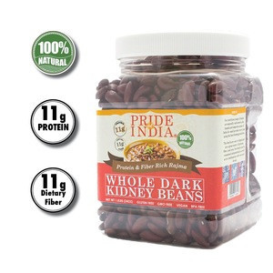 PRIDE OF INDIA - NATURAL WHOLE DARK RED KIDNEY BEANS BULK PACK(25 KG, 55 LBS)
