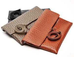Retro faux clutch bag ostrich ethnic clutch handbag