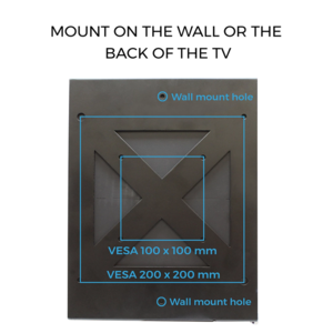 Wall Mount for Xbox One S Black Mount on the wall or on the back of the TV