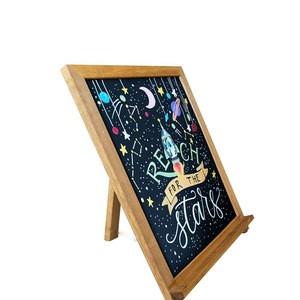 Wholesale High Quality Mini Decorative Wooden Writing Slate Blackboard