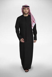 Wholesale Jubbah Islamic clothing Saudi Arabic Daffah thobe for Muslim men