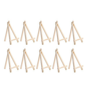 Wholesale Mini Wooden Triangle Artist Easel Painting Triangle Table Stand Menu Card Display Holder Decoration For Phone