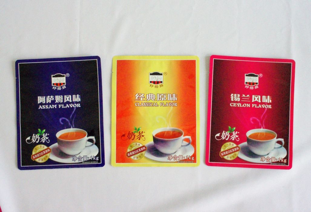 Coffee, milk tea instant drink outer packaging 3-sides-seal pouch