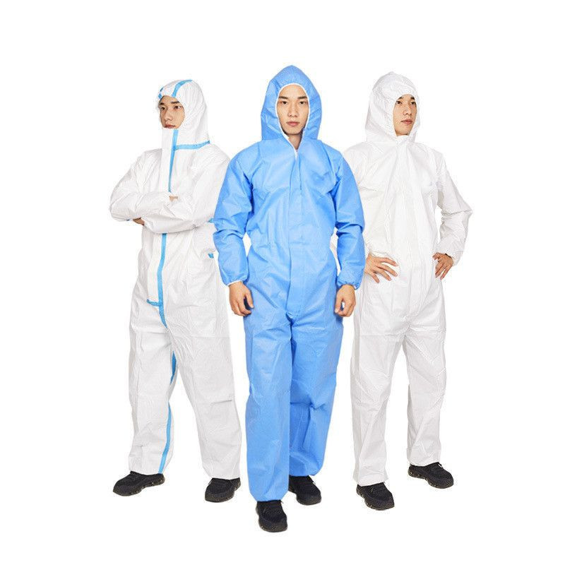 Non-woven Full Body Coverall Disposable Isolation Clothing Suit Protective Suits