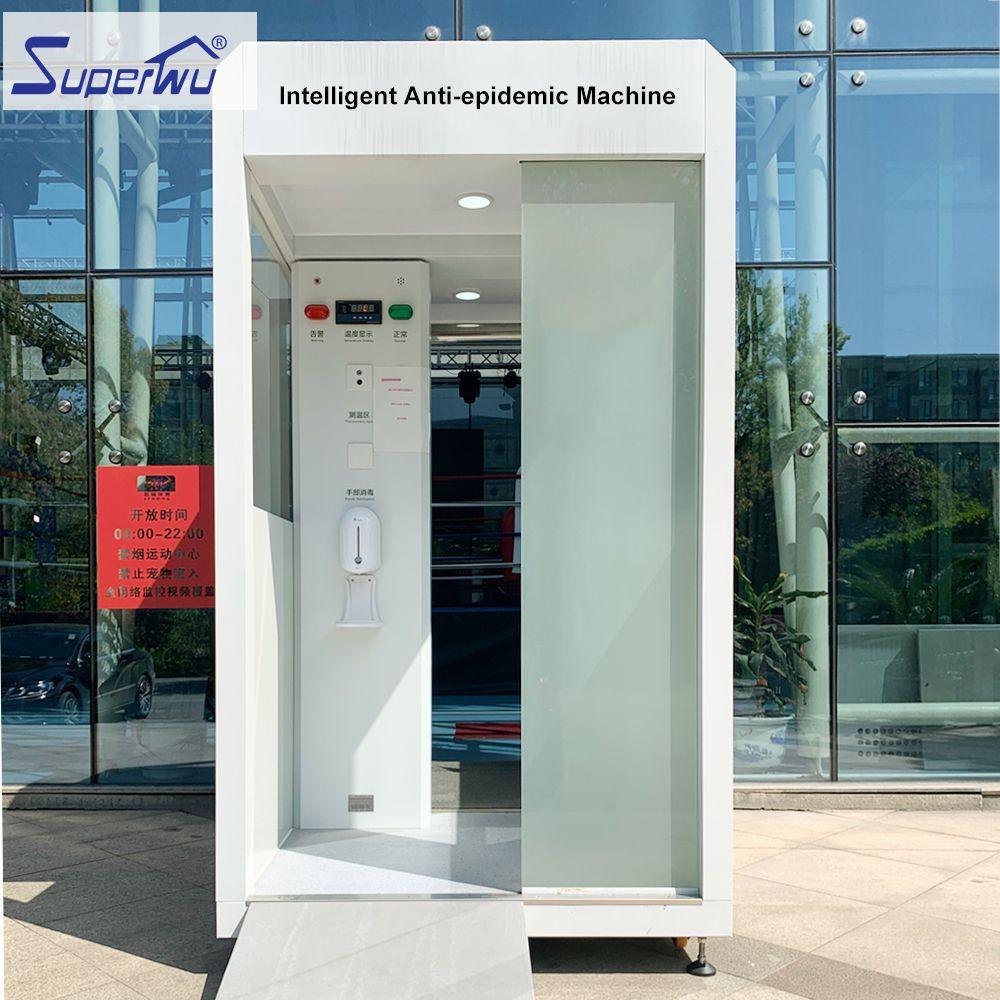 Automatic quick temperature measurement alarm and disinfection fogging all-in-one machine
