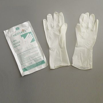 Very Cheap Disposable Sterilized Latex Surgical Gloves Without Powder ,Smooth Surface with CE/ISO Certification