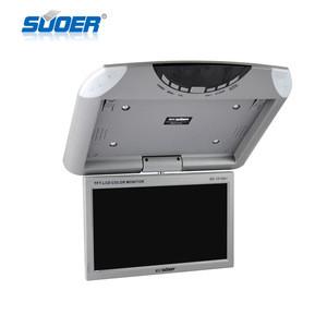10 inch flip down car monitor whit USB/SD/bluetooth function car roof LCD car monitor tv