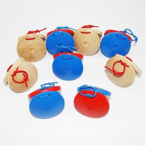 1Pcs Wooden Castanets Wood Percussion Musical Instrument Education Child's Intellectual Development Listening Ability