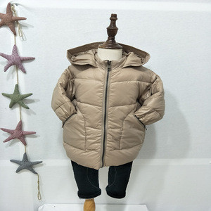 2019 Wholesale thick children winter down coats long boy's jacket on sale high quality kids wear