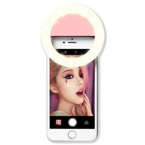 2020 Hot Portable Custom RK14 Blue Pink White Black Smart Mobile Phone 8cm Circle Lamp Ring Light Clip LED Selfie Aro De Luz