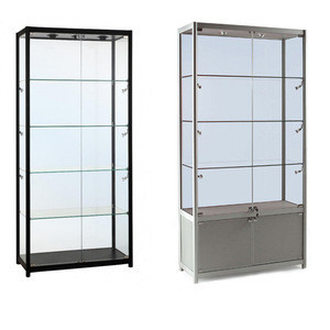 2020 NEW fashion design  mobile phone display showcase with Glass Shelves