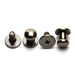 6mm Round Head Button Screwback Screw Stud Spot Rivet for Leather Craft Bag Belt Handbag DIY Decoration Accessories