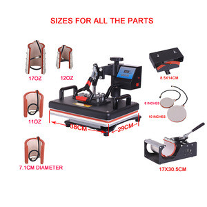 8  in 1 Heat press Machine Sublimation pen press machine Heat Transfer Machine for ball/Shoes /Cap/Mug Plate/Tshirts