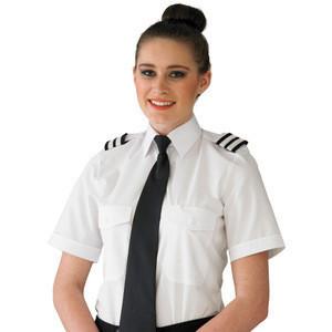 Airline Uniform Pilot Shirt, 65% polyester 35% cotton or 100% cotton