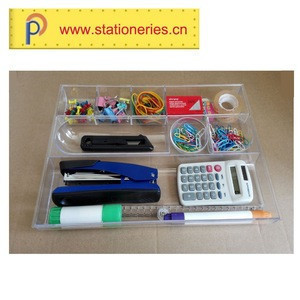 Best selling desktop office stationery set with plastic tray