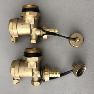 Brass union cap chain for ball valve