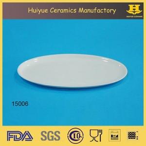 Ceramic whiteware, white flat plate, meat plate