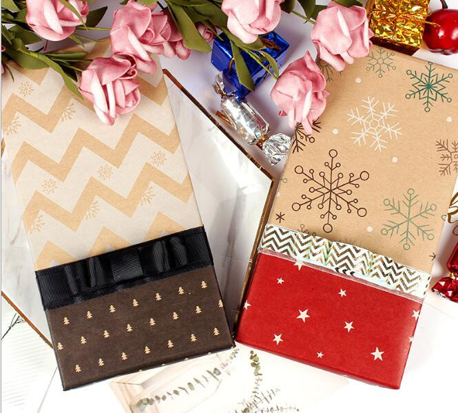 Christmas gift wrap kraft creative gift box decorative paper Santa Claus snowman snowflake wrapping paper