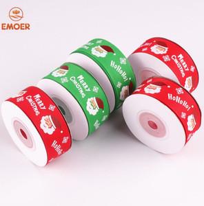 Christmas ribbons Santa Claus rolls