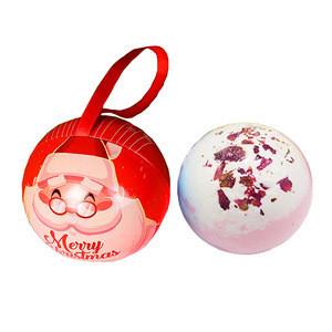 Christmas vegan organic bath bombs surprise bath salt gift set with custom private label logo packaging for kids spa