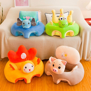 Colorful cartoon design safety sofa baby support protection seat soft kids sofa chair