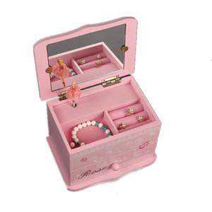 Custom Ballerina Treasure Wooden Music Box