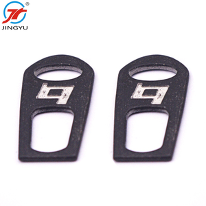 Custom fashion metal zipper puller alloy zipper head replacement parts for zipper