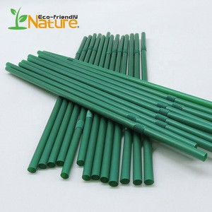 Customized Eco-Friendly Compostable Cornstarch PLA Straw For Bar